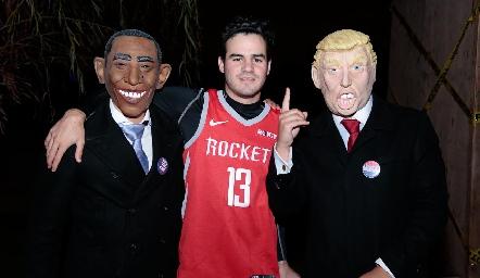 Obama, Jero Gómez y Trump.