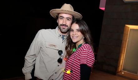 Rafa Olvera y María Emilia Rodríguez.
