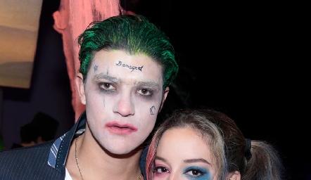 The Jocker y Harley Quinn.