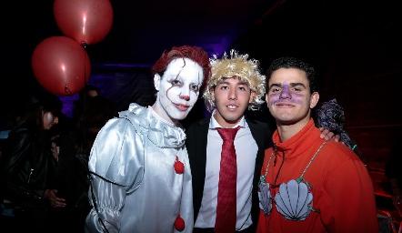 Salomón Dip, Raúl Suárez y Aldo Pizzuto.