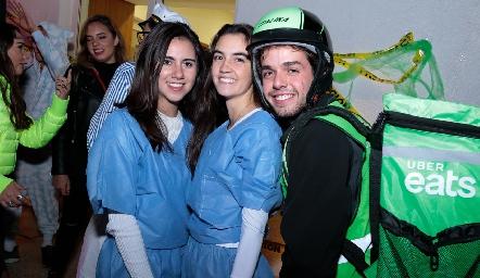 Daniela Monsiváis, Mariana Cueto y Marcelo Navarro.