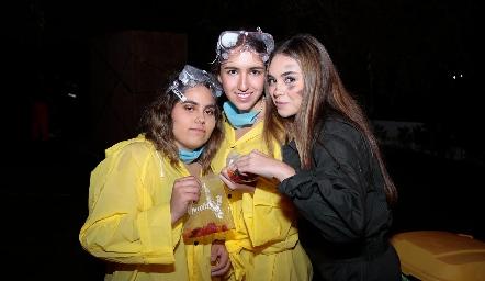 Romina Autrique, Sofi Aldrett y Carmina Navarro.