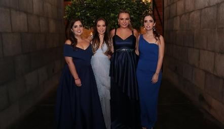 Melissa Castro, Bere Linares, Paty Arias y Daniela Castro.