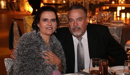 Marcela Schekaibán y Hugo Mendoza.