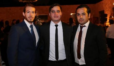 Federico Torres, Eduardo Valerio y Ricardo Ramírez.