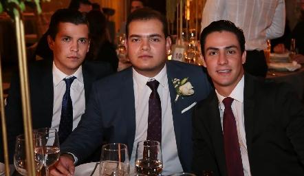 Carlos Andrade, Mauricio Schekaibán y Juan Carlos Castillo.
