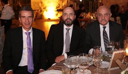 Eduardo Cantú, Jeppo Mahubub y Juan Sarquis.
