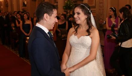 Mario Orgaz y Andrea Schekaibán.