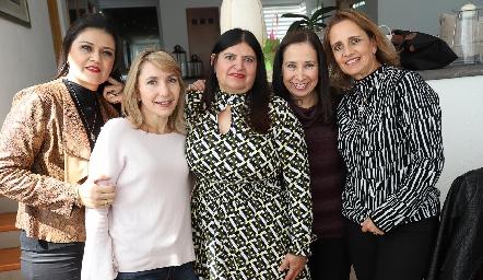 Ana Ávila, Celina Conde, Conchita Garza, Vero Pérez y Mireya Payán.