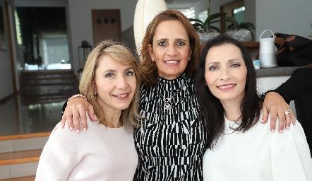 Celina Conde, Mireya Payán y Patricia Barrón.
