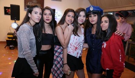 Camila Fajardo, Faride Elizalde, Jime Gómez, Ale Carbajal, Aranza Pumar y Paola de la Garza.