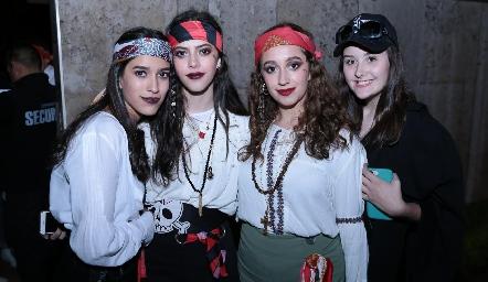 Paulina Godínez, Jimena García, Liz García y Camila Cardoza.