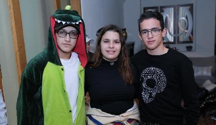 Diego Trujillo, América Duarte y Emiliano Díaz de León.