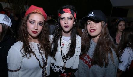 Lizeth García, Jimena García y Lorena Hernández.