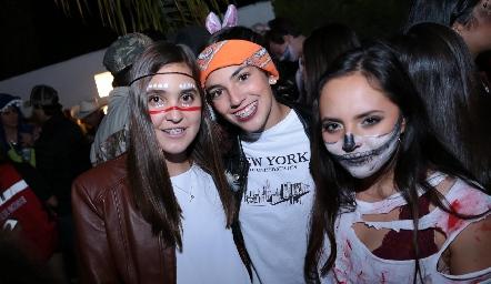 Dany Díaz, Ale Raitarsky y Jenny Martínez.