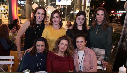Mary Carmen Ayala, Alejandra Ávila, Andrea Gutiérrez, Lourdes Velázquez, Rocío Alcalde, Eva Anaya y Cecy Ponce.
