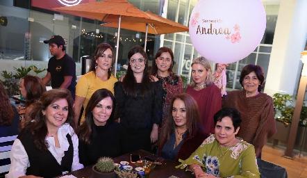 Alejandra Ávila, Andrea Gutiérrez, Laura Acosta, Carla Saucedo, Miriam Bravo, Elia de Padilla, Elsa Tamez, Lorena Herrera y Tita García.