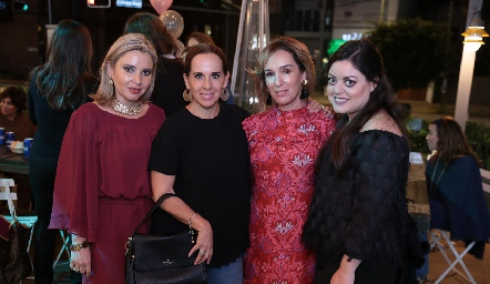 Carla Saucedo, Martha del Río, María Elena Ávila y Andrea Gutiérrez.