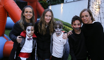 María José Ejarque, José María, Maru Muñiz y Luis Ma, Mau y Karina Alcalde.