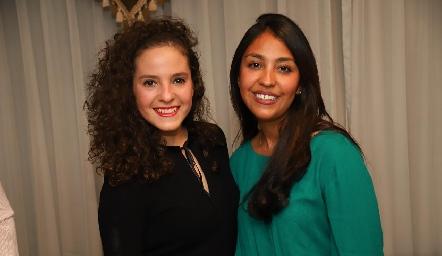 Andrea Schekaibán y Paola Vázquez.