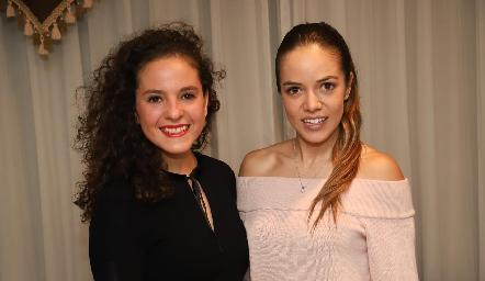 Andrea Schekaibán y Berenice Linares.