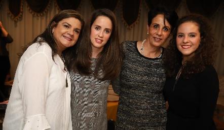 Beatriz Franco, Andrea Boelsterly, María Eugenia Aranda y Andrea Schekaibán.