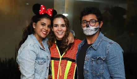 Ceci Sánchez, Lucila Andrade y Ketar Gómez.