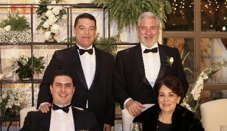 Antonio Gutiérrez, José Miguel Robledo, Miguel Robledo y Montse Bravo.