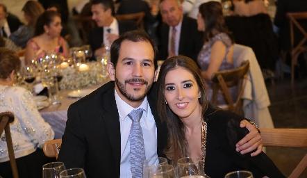 Daniel Mendizábal y Eugenia Cortés.