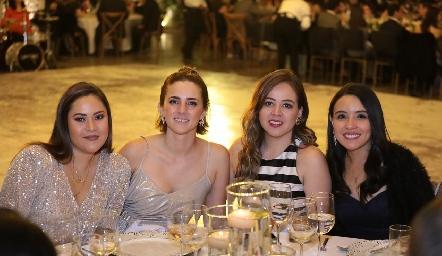 Andrea Hinojosa, Eugeni Cantú, Andrea Barbosa y Mariela Pérez.