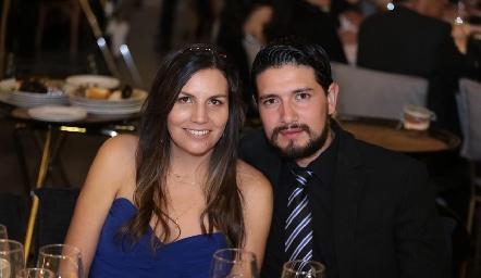Lorena Vargas y Chema Alonso.
