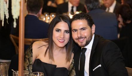 Anilú Navarro y Alejandro Solís .