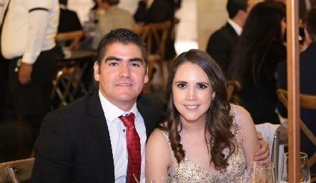 Gerardo Arista y Jessica Leiva.