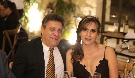 Oscar Cabral y Susana Ayech.