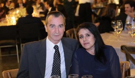 Miguel Ángel Enríquez y Silvia Álvarez.