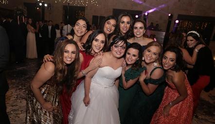 Amigas de la novia.