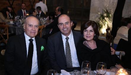 Amadeo Calzada, Fernando Pérez Espinosa y Coco Mendizábal.