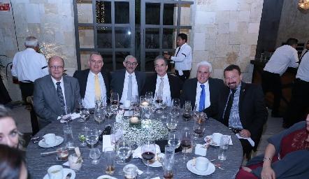 Javier Vergara, Gerardo Zermeño, Jaime Acevedo, Alfredo Vergara, Sergio Almanza y Juan Carlos García.