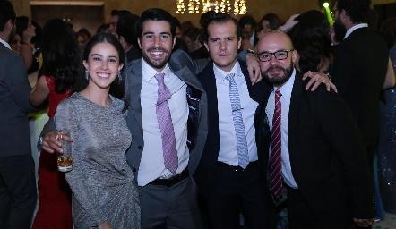 Natalia Navarro, José Manuel Lázaro, Juan Fer Rojas y Jorge Méndez.