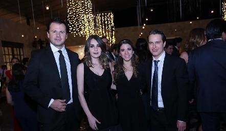 Rodrigo Carlos, Ángela Padrón, Isa Álvarez y Alejandro.