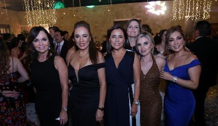 Elsa Tamez, Lorena Herrera, Laura Acosta, Martha Malo, Karla Saucedo y Silvia Tapia.