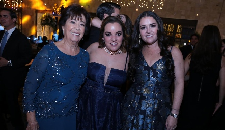 Conchita Nieto, Alejandra Gutiérrez e Isa Torre.