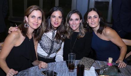 Rocío Nieto, Valeria Ibarra, Daniela Llano y Claudia Artolózaga.