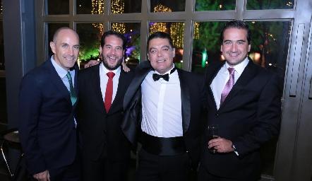 Juan Carlos Nieto, Pablo Guerra, Antonio Gutiérrez y José Luis Guerra.