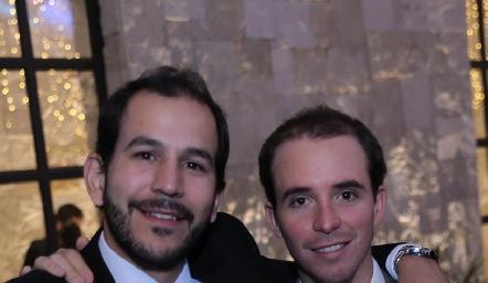 Daniel Mendizábal y Germán De Luna.