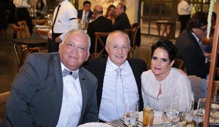 Juan Carlos Caballero, Paco Lavín y Tita García.