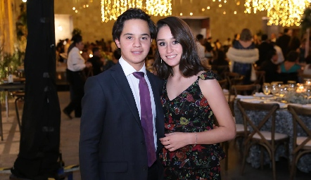 Patricio Aguillón y Gaby Hinojosa.
