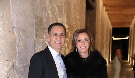 José Manuel Lázaro y Beatriz Lavín.