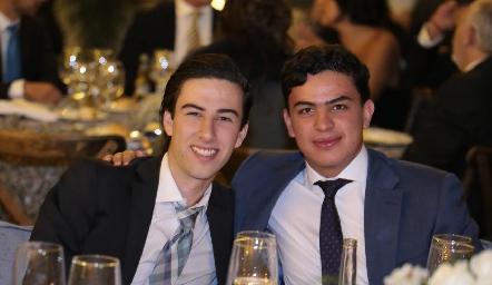 Memo Robles y Rodrigo Gutiérrez.