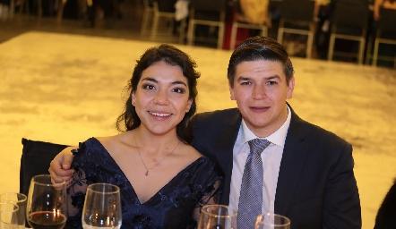 Mariana Turrubiartes y Fernando Pérez.